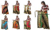 10 PC Wholesale Lot Women Dashiki Hippie Hight Waist Maxi Skirt Wrap Around