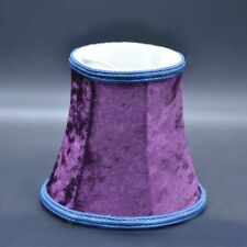 1X Velvet Small Lampshade Fabric Desk Ceiling Candle Light Bulb Clip Cover Hippy