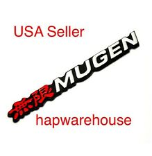 New Honda Acura Red Mugen Rear Side Emblem Civic Rsx Fit Accord TL Badge