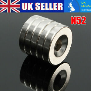 5x N50 Strong Ring Round Magnets 15x3mm DIY Rare Earth Neodymium Hole Dia