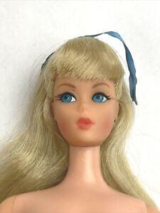Vintage Barbie TNT Blonde MOD Japan Rooted Eyelashes Twist and Turn