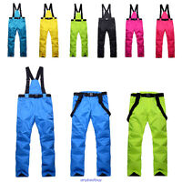 Women Mens Windproof Overall Ski Snow Pants Insulated Waterproof new Winter