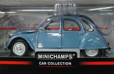 WOW EXTREMELY RARE Citroen 2CV Roll Roof 1983 Pastel Blue1:18 Minichamps