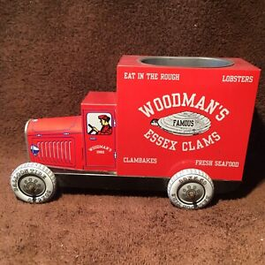 Woodman's Essex Clams Tin Delivery Truck Collectors Series Pencil Holder VTG