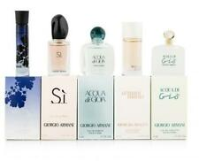 GIORGIO ARMANI 5 PCS MINI SET FOR WOMEN: CODE 3 ML EDP + SI 7 ML EDP + ACQUA DI