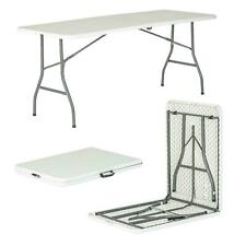 More details for 6ft folding trestle table desk pop-up portable garden camping party picnic bbq