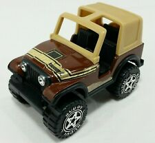 Buddy L Toy Jeep 4 X 4 Offroad Open Top Brown Tan Vintage Vehicle Metal Plastic