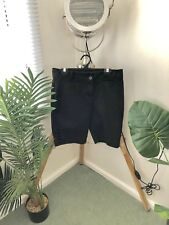 ROCKMANS Size 10 Women's BLACK Ladies SHORTS Free Post