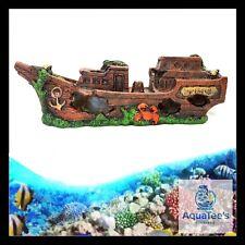 AQUARIUM FISH TANK SHIP DECORATION 30CM ORNAMENT AQUA MARINE FRESH WATER