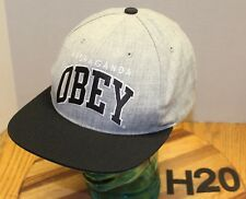NICE OBEY PROPAGANDA GRAY/BLACK HAT SNAPBACK EMBROIDERED VERY GOOD CONDITION H20