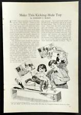 Kicking Mule Action Toy 1927 HowTo Build PLANS *And Her Name Was Maud* Si Slocum