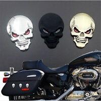 new Cool Skull Skeleton Car/Motorcycle Decal Devil 3D Metal Sticker Emblem Badge