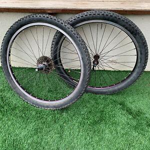 "Valiant Bontrager 26"" Wheels XTR White Industries Hubs 9 spd Mountain Bike Set"