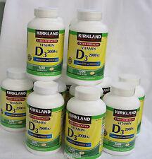 Kirkland Vitamin D3 2000 IU  600 Softgels ~Extra  Strength~ Best Before Feb 2020