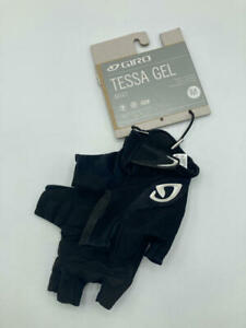 Giro Tessa Gel Women's Road Cycling Gloves - Black/White (2017), Medium