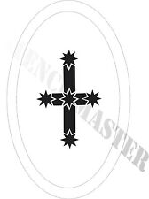 EUREKA STOCKADE FLAG STENCIL for Temp Tattoo Size - 65mm
