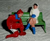 "VINTAGE LEAD BARCLAY ""Man Putting Skates on Girl"" B200 Near Mint Cond F/S  Lot A"