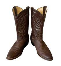 Durango Cowboy Boots Vintage Cowboy Boots Brown Leather Western Boots Men's 8.5D