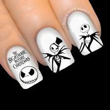 Nightmare Before Christmas JACK SKELLINGTON Nail Decal Sticker Water Transfer