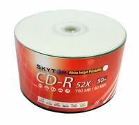 1000 pcs A Grade Blank CD-R 52x 700MB White Inkjet Hub Printable Disc EXPEDITED