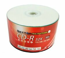 1000 pcs A Grade Blank CD-R 52x 700MB White Inkjet Hub Printable Disc EXPEDITED