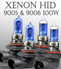 AGI 9005 9006 100W Combo Package High and Low Beam XENON HID Bulbs Super WhW3422