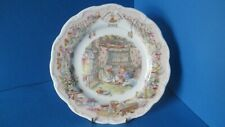 BOXED BRAMBLY HEDGE RARE 2005 8 INCH PLATE ROYAL DOULTON 'PLAYING IN SALTAPPLES