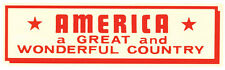 AMERICA  Great Country Patriotic Vintage 1950's Style Travel Decal Sticker Label