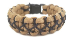 Paracord Bracelet 550 Gold/Mid. Blue Micro Cord U.S.Seller - Handmade