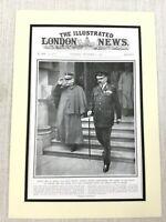 1915 WW1 Original Aufdruck Lord Kitchener Allgemeine Joffre Französisch Britisch