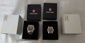 His and Hers Swiss Army Watches From Marlboro still in box. Never used.