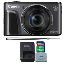 Canon PowerShot SX720 20.3MP HS Full HD 1080p Wifi / NFC Camera Black + Bundle