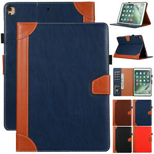 "For iPad 7th/8th 10.2"" 2020/9.7"" 6th 5th/Air/Mini Leather Folio Stand Case Cover"