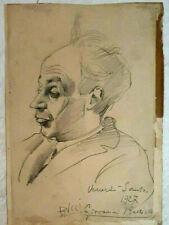 Giovanni Battista BUCCI Pencil on Paper, Vintage Portrait, 24 x 17cm, 1927