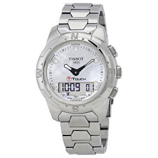 Tissot T-Touch II Mother of Pearl Titanium Ladies Watch T047.220.44.116.00