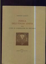 Umberto Galeota - POESIA DELL'ITALIA UNITA con L'ODE AI GARIBALDINI DI BERGAMO -
