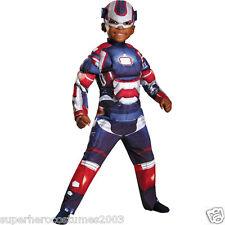 Iron Man 3 Iron Patriot Toddler Muscle Costume ARC REACTOR GLOWS! SIZE 2T -65691