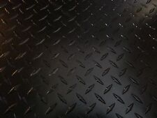 .063 Matte Black Powdercoated Aluminum Diamond Plate Sheet 4 x 10""