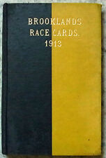 BROOKLANDS RACE PROGRAMES 1913 x5 Bound Volume Prewar Motor Sport Motor Racing