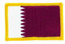 FLAG PATCH PATCHES  QATAR  IRON ON EMBROIDERED SMALL