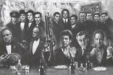 GANGSTERS Movie Poster - Sopranos Full Size 24x36~ Godfather Goodfellas Scarface