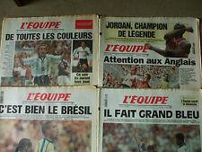 4 journaux l'equipe coupe du monde 1998  15 16 17 19 juin