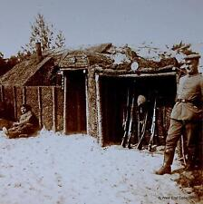 WW1 Stereoview - Rustic Comforts of German Trench Life - Rifles