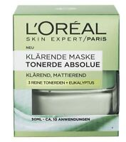 1 x LOREAL PARIS FACE MASK ! WITH EUCALYPTUS - SKIN CARE CLEANING COSMETIC