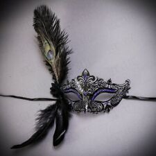 Party Mask Woman Female Masquerade Masks Luxury Peacock Feather Venetian Mask