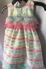 Isobella and Chloe Girls Ribbons And Ruffles Empire Waist Party Dress Sz 18M-New