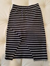STUSSY Striped Crossing Front Open Skirt Size 8 - As New