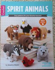 Leisure Arts SPIRIT ANIMALS  crochet school mascot pattern book - SALE