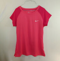 Nike Dri Fit Athletic Fitness WOMENS Workout Exercise Pink Shirt Size MEDIUM M