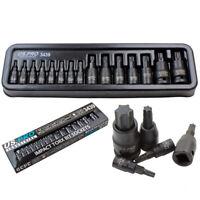 15pc Impact Torx Bit Socket Set 1/4 3/8 1/2 T6-T70 TRX-Star US Pro Industrial